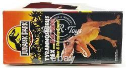 Jurassic Park Tyrannosaurus Rex with Electronic Roar & Stomping 1993 Kenner NRFB