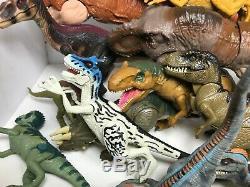Jurassic Park Vintage Dinosaur Action Figure Lot T-Rex Raptor