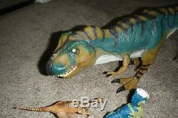 Jurassic Park World Toy Dinosaur Lot Bull T-Rex Gallimimus Carnotaurus