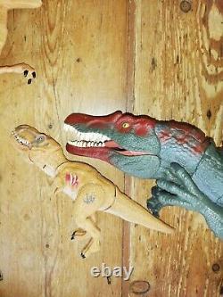 Jurassic World 71cm Mosasaurus Spinosaurus Chomping T-Rex Raptor Dinosaur Bundle