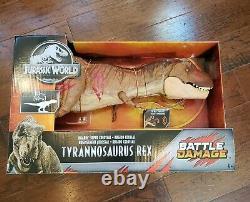 Jurassic World Battle Damage Dinosaurs Super Colossal Tyrannosaurus T Rex NEW