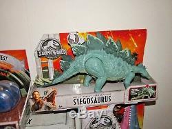 Jurassic World Gyrosphere Battle Damage T-Rex Mosasaurus Carnotaurus Stegosaurus