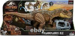 Jurassic World Stomp N Escape Tyrannosaurus Rex Figure Camp Cretaceous Dinosaur
