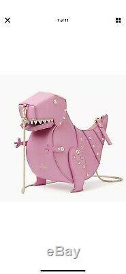 Kate Spade RARE T REX T-Rex Rare Pink Dinosaur Clutch Bag Cross Body Dino Trex