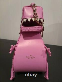 Kate Spade Whimsies Rare Pink T-Rex Dinosaur Purse