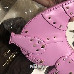 Kate Spade Whimsies T Rex Dinosaur Crossbody Bag Pink Leather Cute