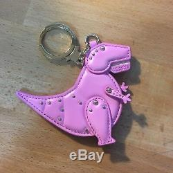 Kate Spade Whimsies T-Rex Dinosaur Keychain Key Ring Fob Bag Charm Pink RARE
