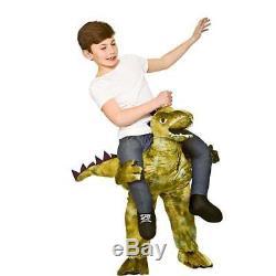 Kids DINOSAUR Carry Me Halloween T-Rex Fancy Dress Costume Mascot Outfit Book Wk