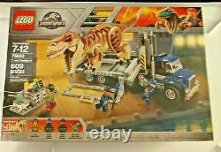 LEGO 75933 Jurassic World Park T. Rex Transport Tyrannosaurus Box Damage