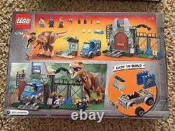 LEGO JURASSIC WORLD LOT 75932 10758 75926 VELOCIRAPTOR T Rex Breakout Pteranodon