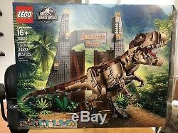 LEGO Jurassic Park World T-Rex Rampage 75936 Dinosaur Building Kit Used2020
