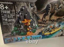 LEGO Jurassic World 75938 T. Rex vs Dino-Mech Battle NEW Dinosaur Boat