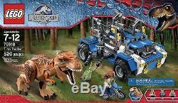LEGO Jurassic World -T. Rex Tracker 75918 Raptor Rampage 75917 & Ambush 75916 NEW