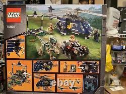 LEGO Jurassic World T. Rex Transport Stygimoloch Breakout Blue 75933 75928 75927