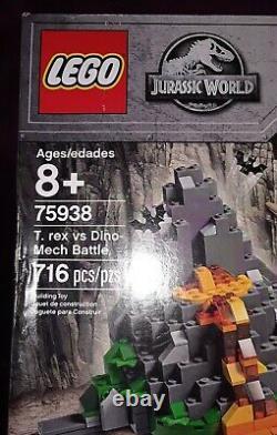 LEGO Jurassic World T Rex vs Dino-Mech Battle (75938), Open Box