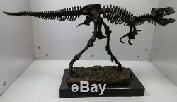 Large Bronze Dinosaur Skeleton Sculpture Tyrannosaurus Rex T Rex 71cm Long