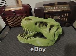 Large Color Change Tyrannosaurus Rex Skull Prehistoric Dinosaur Bone Art T-Rex
