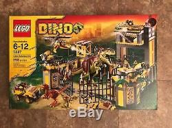 Lego 5887 DINO Defense HQ T-Rex Helicopter Retired New Sealed in Box