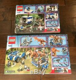 Lego Jurassic World T. Rex Tracker & Raptor Rampage! Lego Jurassic World! Lego
