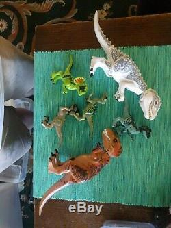 Lego Jurassic World dinosaurs including indominus Rex and T-rex GENUINE