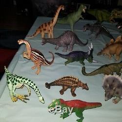 Lot 34 Schleich Papo Safari Dinosaurs T-rex Velociraptor Triceratops More
