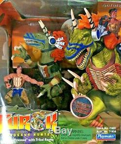 Lot Of 3x Turok Dinosaur Hunter Figures Brand New & Mint! T-rex Raptor Fireseed