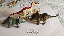 Lot Of 7 Jurassic Park Dinosaur Action Figures Jp 28 T-rex Jp 29
