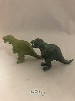 Marx vintage 1960's T-rex Tyranosaurus Dinosaur Variation Lot Of 2
