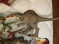 Mattel Jurassic World Dinosaur Lot Tyrannosaurus Rex Spinosaurus Velociraptor