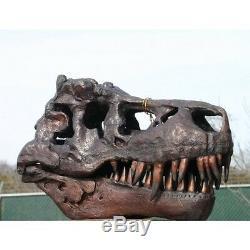 Museum Dinosaur Jurassic Authentic Bronze T-Rex Skull Tyrannosaurus Rex
