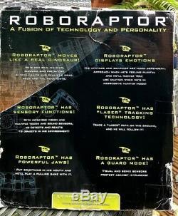 NEW 2005 Large 32 WowWee ROBORAPTOR Remote Control RC Dinosaur Raptor T-Rex