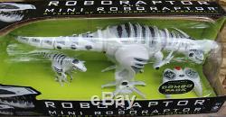 NEW 32 WowWee ROBORAPTOR & Baby Combo Remote Control RC Dinosaur Raptor T-Rex