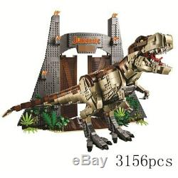NEW Jurassic World T. REX RAMPAGE Building Blocks 2 Dinosaur Figures Bricks-NOBOX
