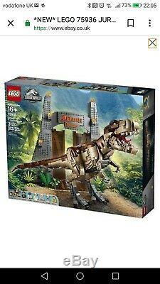 NEW LEGO 75936 JURASSIC PARK T Rex Rampage