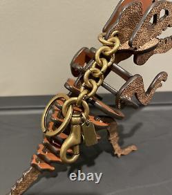 NWOT COACH $225 Dinosaur Signature C Large Rexy T-Rex Key Ring Purse Bag Charm