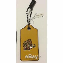 NWT COACH Dinosaur T-Rex Complete Set Hang tag Bag Charm Keychain Keyfob