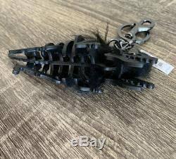 NWT Coach Small Black T Rex Long Hair Mohawk Rexy Bag Charm Keychain 58499 $175