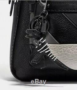 New Coach Metal Rexy T-Rex Black Dinosaur Bag Charm Keychain Ring 39403 GIFT BOX
