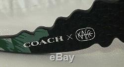 New Coach X Kaffe Fassett Medium Rexy Camo Dinosaur T Rex Puzzle Bag Charm