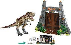 New Custom Jurassic Park T. Rex Rampage Compitible With Lego 75936