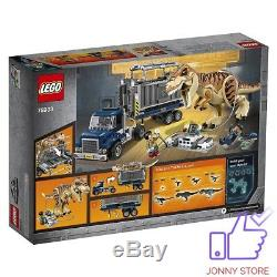 New LEGO Jurassic World T. Rex Transport 75933 Building Kit set toy rare exotic