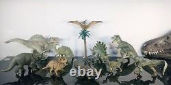 Papo Dinosaur Lot Allosaurus T Rex Spinosaurus Rare and Retired