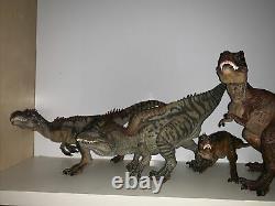 Papo Dinosaur Set T. Rex, Allosaurus, Gorgosaurus, Acrocanthosaurus Dinosaurs