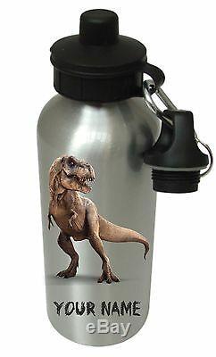Personalised Dinosaur T Rex Boys, Drinks, Water Bottle, School, Birthday Xmas PE