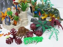 Playmobil Dinos 5230 Erupting Volcano T-Rex & Dinosaurs Lot Triceratops Figures