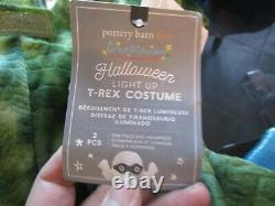 Pottery Barn Kids Halloween costume Light Up T rex Dinosaur 4 6 Y New