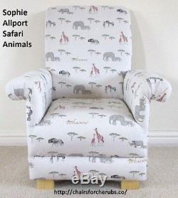 Prestigious Dinosaur Fabric Child's Chair Armchair Nursery Blue Green Kids Dino