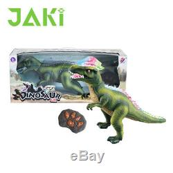 Radio Remote Controlled T -Rex Light Up Dinosaur Toy Robot Sound Game Great Gift