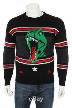 Saint Laurent Paris T Rex Dinosaur Wool Sweater S Hedi Sliman NWOT