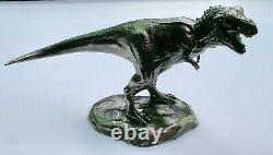 Solid. 925 silver T Rex sculpture 8.10 oz 272 grams sterling Awesome Gift
